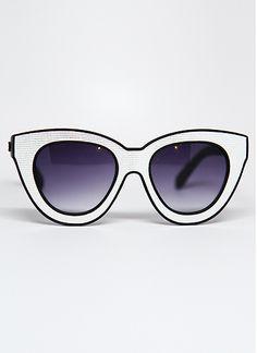 2e001fb572f6 Bat Metallic Thick Frame Sunglasses in Silver by Quay Dark Summer