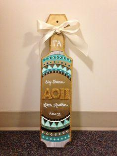 love this paddle Alpha Phi Omega, Phi Sigma Sigma, Alpha Omicron Pi, Kappa Kappa Gamma, Alpha Delta, Delta Zeta, Chi Omega, Sorority Paddles, Sorority Crafts