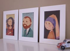Set of 3 prints 4x6 in Monalisa Van Gogh and the by ByLaziesvisa, €14.00