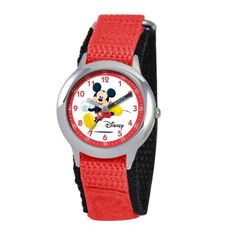 Disney Kids' W000012 Mickey Mouse Stainless Steel Time Teacher Watch Disney. $28.79. Accurate quartz movement. Time Teacher watch design with labeled Hour & Minute hands, recommended for ages 3-7 yrs old. Meets or exceeds all US Government requirements and regulations for children's watches. Stainless steel case, water resistant to 3ATM. 1 year limited manufacturer's warranty. Save 18% Off!