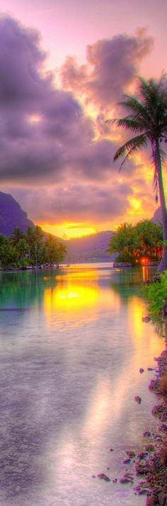 Sunset at St. Regis - Bora Bora.