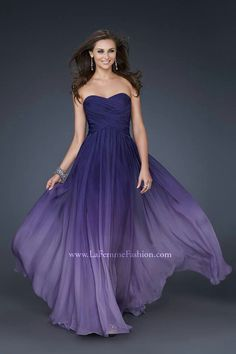Purple brides made dress?
