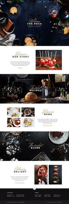 Infographics , UI Design et Web Design - clean, layout, concept, catering - CoDesign Magazine Design Websites, Web Design Blog, Food Design, Page Design, Design Design, Design Ideas, Best Web Design, Design Concepts, Creative Design