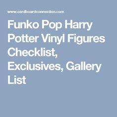 Funko Pop Harry Potter Vinyl Figures Checklist, Exclusives, Gallery List