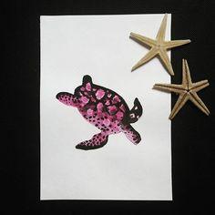 Sea turtle 🐢  #watercolor #art #artist #artwork #instaartist #illustration #instagood #starfish #sea #turtle #seaturtle #paint #painting #aquarelle #tagsforfollow #TagsForLikes #pink #colorful #animal #wild #nature #love #photooftheday