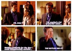 THE BUTLER DID IT! Not gonna lie, the main reason I can't wait for season 5 on DVD is this scene.