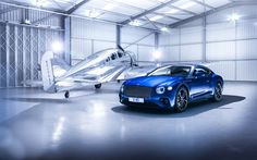 Download wallpapers 2018, Bentley Continental GT, luxury coupe, sports car, blue Continental GT, British cars, Bentley