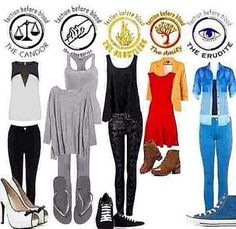 Cute outfits!!! Divergent factions