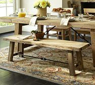 Benchwright Console Table - Rustic Mahogany stain | Pottery Barn