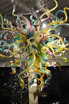 Chihuly chandelier sculpture