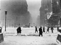 Winter Street Scene in Philadelphia Pedestrians and Cars at Road Intersection  H. Armstrong Roberts