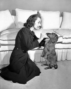 Joan Crawford & Pupsche