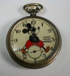 MICKEY MOUSE POCKET WATCH - This represents thy think it is time for Dave Beckmann & I to get married - and the chosen date is saved. Thank you!  We are very happy!