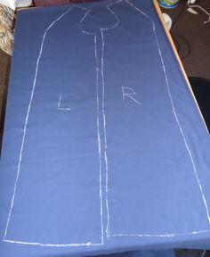 15. Seitenteile für den Mantel wurden nun auf den Stoff angebracht ;-)