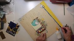Scrapbook Process Video #111 Hello Friend for Stuck Sketches - YouTube