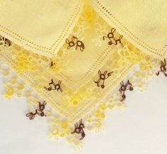 Yellow Handkerchief Vintage Linen with by AsYouLikeItVintage, $5.50