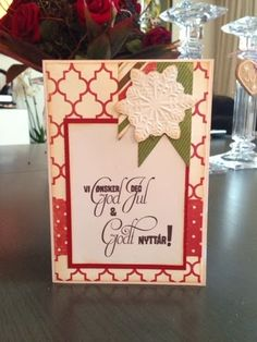 Kulricke Dies and Clearstamps: Christmas Card