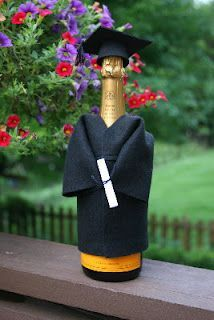 Happy Graduation! Champagne or wine for the College Graduates, but replace with (responsible) sparkling cider for the High School Graduates!