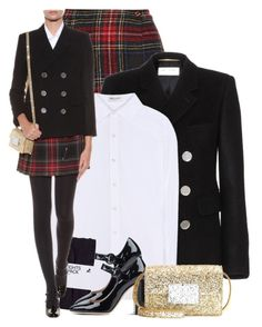 """School Girl Saint Laurent"" by hollowpoint-smile ❤ liked on Polyvore featuring Yves Saint Laurent, women's clothing, women, female, woman, misses and juniors"