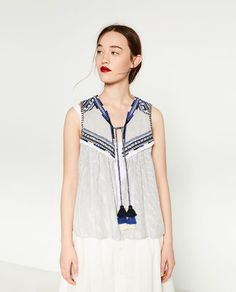 Image 7 of EMBROIDERED WAISTCOAT from Zara