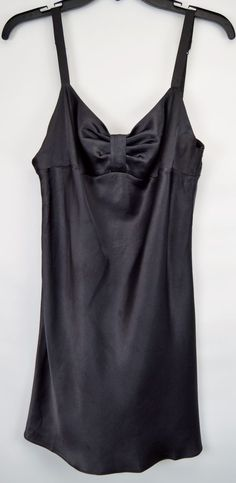 Victoria's Secret Medium Black Pleated Chemise Nightie #VictoriasSecret #BabydollChemise