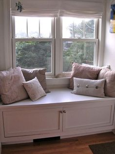 Attic space window seat. Eclectic  Alison's Cottage Renovation