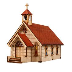 Wooden Model Western Kits Korea Series- Scale models Western Church 1