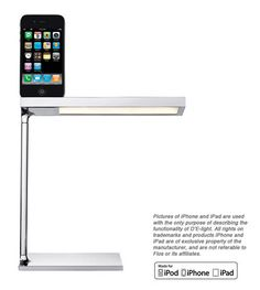 This desk lamp also charges your iPhone. | 23 Insanely Clever Products For Your Small Space