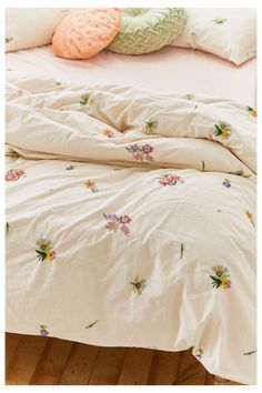 Georgine Embroidered Floral Duvet Cover #urban #outfitters #duvet Georgine Embroidered Floral Duvet Cover | Urban Outfitters Duvet Sets, Duvet Cover Sets, Floral Duvet Covers, Cute Duvet Covers, Comforter Cover, Bed Covers, Room Ideas Bedroom, Bedroom Decor, Duvet Covers Urban Outfitters