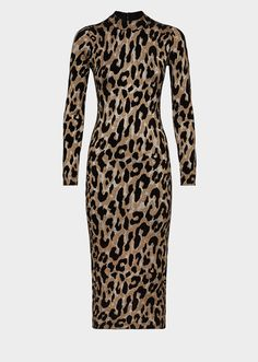 f510305a7a29 Versace Animalier Knit Midi Bodycon Dress for Women   US Online Store