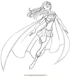 Free Supergirl coloring page to print out