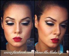 Classic Hollywood Makeup Tutorial//love this look. Kiss Makeup, Love Makeup, Makeup Tips, Makeup Looks, Hair Makeup, Lip Tips, Makeup Tutorials, What Is Contour Makeup, Contouring Makeup