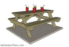 6 foot Picnic Table Plans | MyOutdoorPlans | Free Woodworking Plans and Projects, DIY Shed, Wooden Playhouse, Pergola, Bbq
