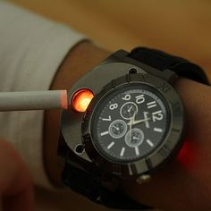 USB Lighter Watch #Lighter, #Recharge, #USB, #Watch
