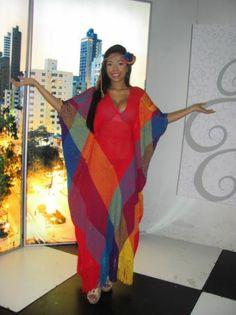 manta pitouya vestido tipo manta wayuu hilo de algodon tejido pitouya Cover Up, Africa, Sari, Caftans, Beast, Dresses, Decor, Style, Fashion