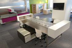 TeamWorx, NeoCon 2014 #DeskMakers #TeamWorx #officefurniture #desking #benching #casegoods #interiors #design #contemporary #commercialdecor #officedecor #modern #westcoast #eurostyle #sleek #office #interiordesign #inspiration #Chicago #california #data #access #DeskMakers #officeenvironment #productivity #customized #custom #openfloorplan #merchandisemart #texturedlaminate #NeoCon14