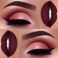 36 Best Maroon Matte Lipstick Shades to Look Stunningly Beautiful Lip Make up Maroon Matte Lipstick, Maroon Lips, Maroon Makeup, Matte Lipsticks, Eyeliner, Eyeshadow Makeup, Bold Lip Makeup, Bright Makeup, Makeup Brushes