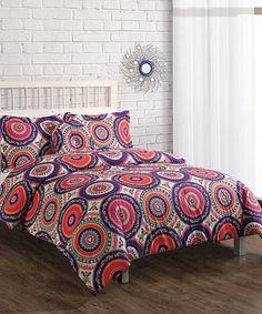 Purple & Orange Boho Comforter Set | something special every day