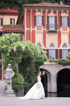 Lake Como Wedding Photographer - The gorgeous Renaissance villa, with his beautiful garden which offer a nice overlook on Lake Como waters, was a perfect location for the ceremony and celebrations of this couple from New York. He's Beautiful, Beautiful Gardens, Wedding Dreams, Dream Wedding, Lake Como Wedding, Places In Italy, Italian Villa, Destination Weddings, Wedding Stuff