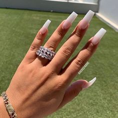 We collected about long ombre coffin nails styles for you if you are you looking for the style of coffin nails. all of them are trendy We collected about long ombre coffin nails styles for you,if you are you looking the style of coffin nails. Perfect Nails, Gorgeous Nails, Pretty Nails, Nail Swag, Aycrlic Nails, Coffin Nails, Nagel Bling, Best Acrylic Nails, Long Square Acrylic Nails