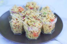 Verrines de quinoa, avocat et pamplemousse