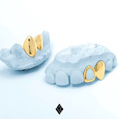 Solid 14K Yellow Top And Bottom Two Teeth Cap Grill With Extended Fang And Open Face. Custom made for @goodbruce  Email us at INFO@IFANDCO.COM for any custom grill inquiries #Grillz #CustomJewelry #IFANDCO