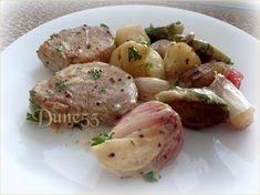 Médaillons de porc, sauce crémeuse moutarde et ail