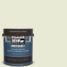 BEHR Premium Plus Ultra 1-gal. #410E-2 Celery Ice Satin Enamel Exterior Paint