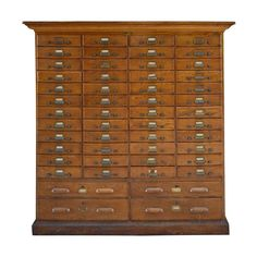 American Oak Multi-Drawer File Cabinet | From a unique collection of antique and modern cabinets at https://www.1stdibs.com/furniture/storage-case-pieces/cabinets/
