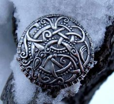 *Skywen silver viking brooch 11th century
