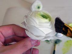 Wafer paper ranunculus tutorial