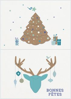 Free: pop-up cards to print for the end of year holidays: Current Woman The MAG by capucineo Christmas Printables, Christmas Cards, Birthday Cards To Print, Pop Up Cards, Kirigami, Happy Holidays, Diy And Crafts, Greeting Cards, Map