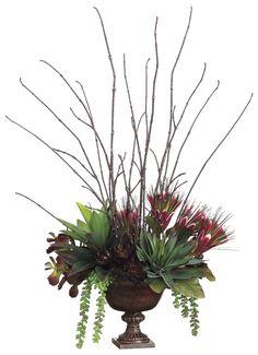 Protea, Agave and Sedum Arrangement