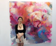 The artist is as beautiful as her work. Art Taipei 2010 with Mad World 2 By peihang Peihang 沛涵 Huang 黃 This photo was taken on August 2010 using a Ricoh Barbie Painting, Painting Prints, Watercolor Paintings, Inspirational Artwork, Beauty Art, Artist At Work, Online Art Gallery, Lovers Art, Amazing Art